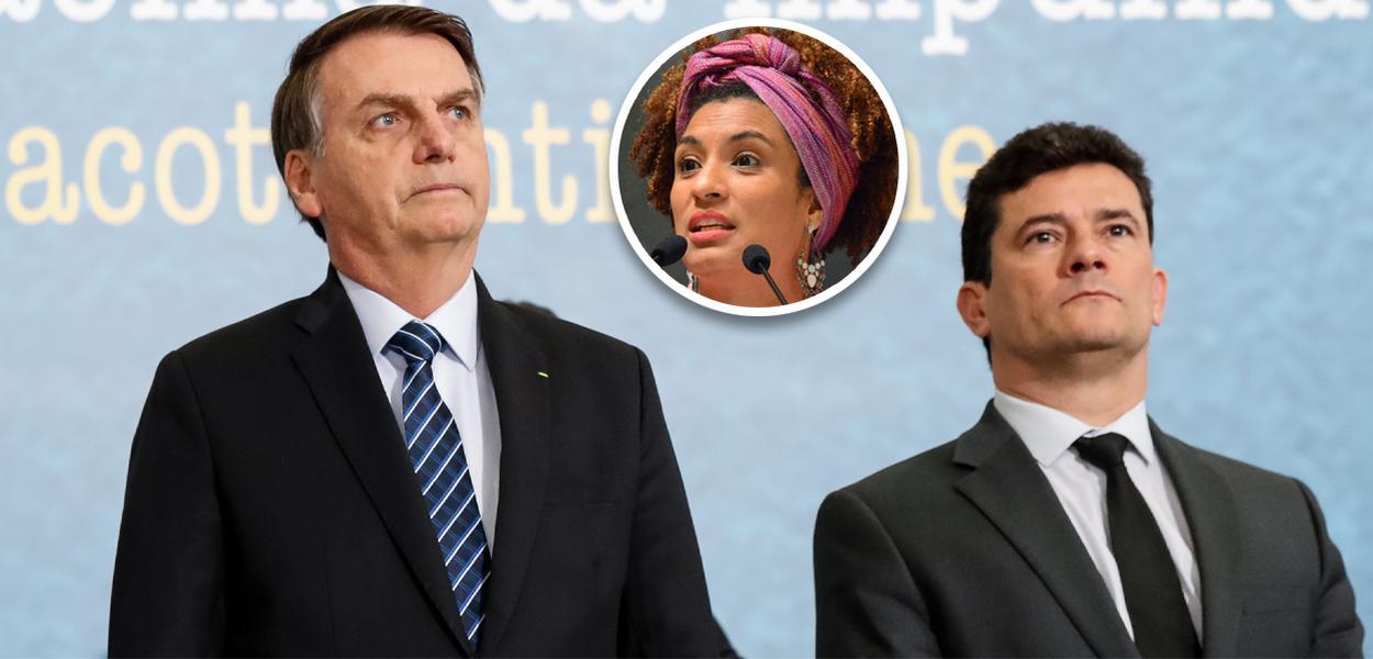 Bolsonaro aciona Moro para que PF investigue depoimento do porteiro no caso Marielle