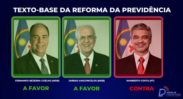 Veja como votaram os pernambucanos sobre o texto-base da reforma da Previdência