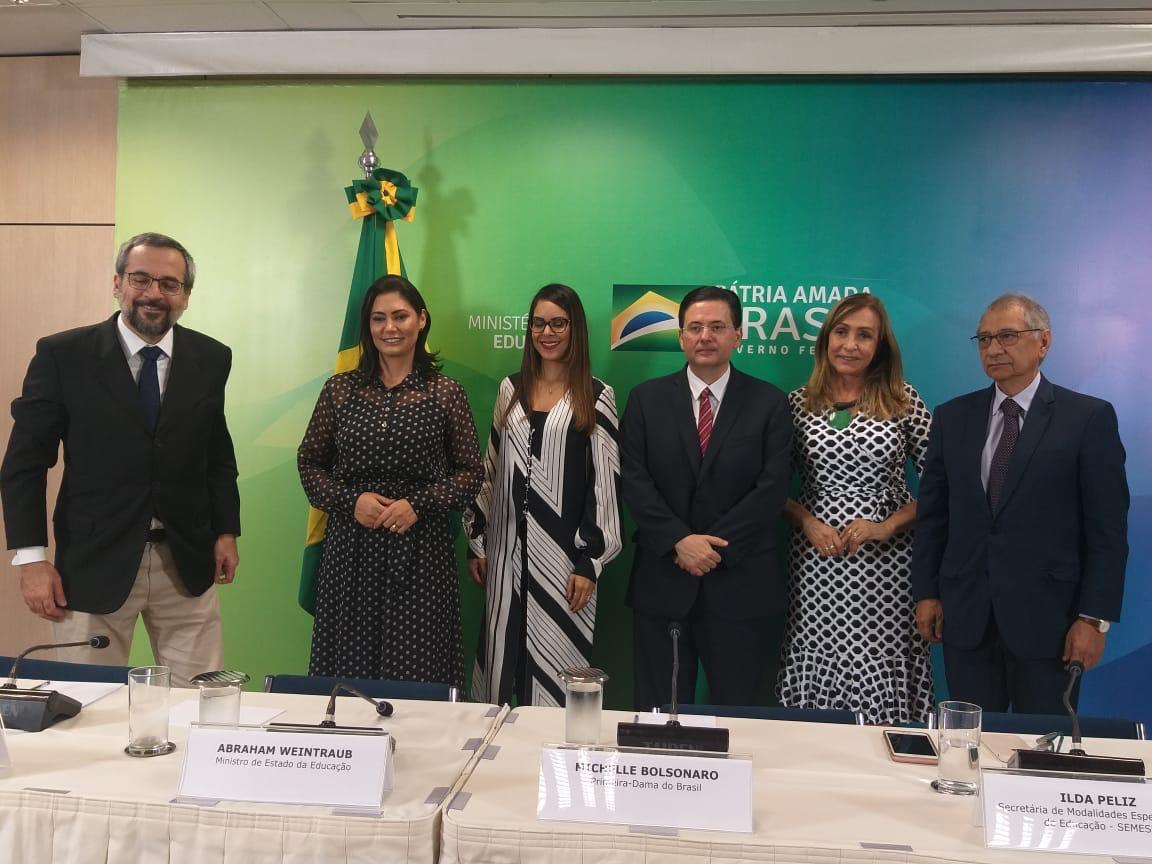 Presidente da Fundaj Antônio Campos, se encontra com ministro da Educação e primeira-dama, em Brasília