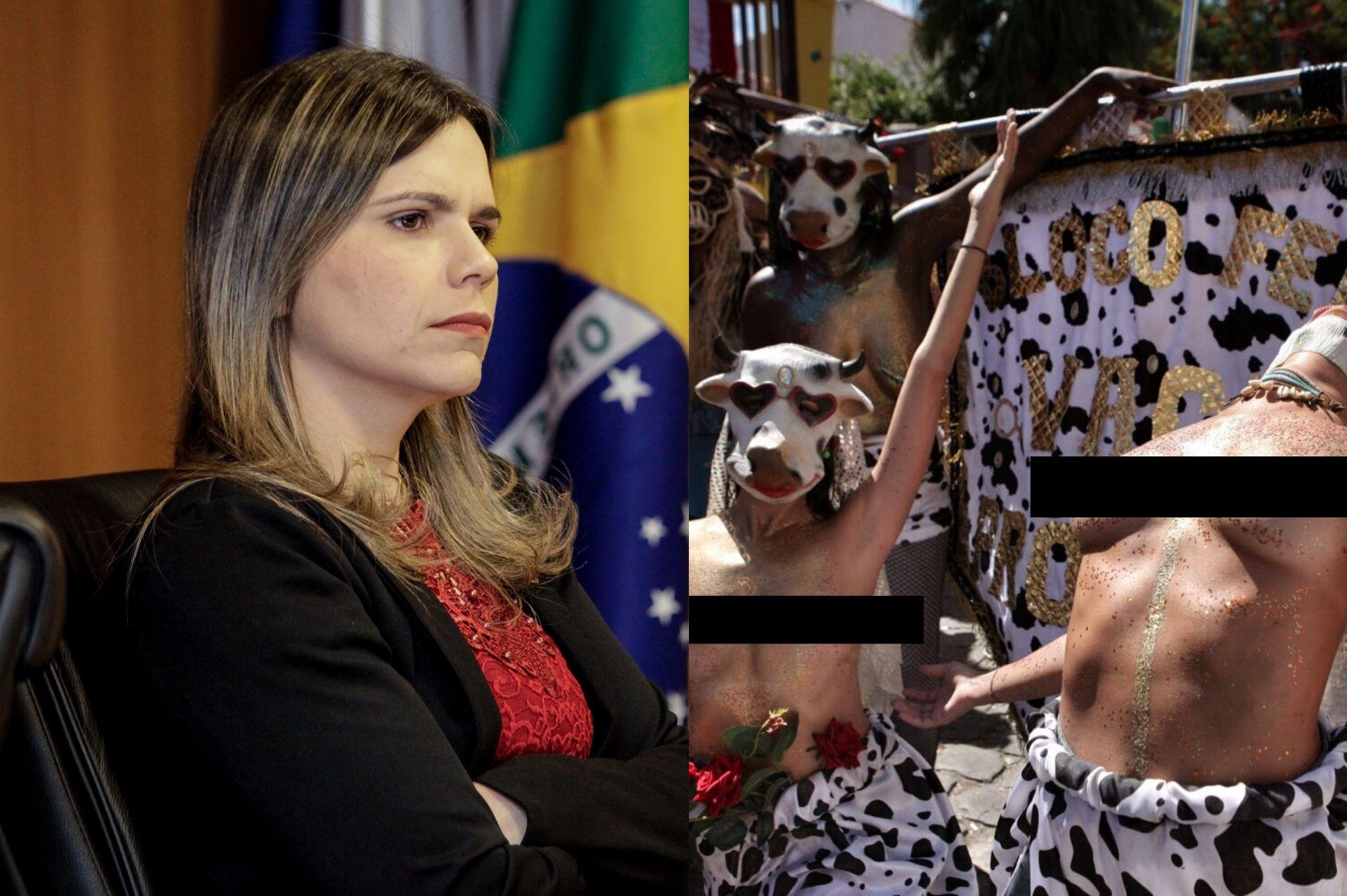 Clarissa Tércio solicita policiamento para coibir atos obscenos em bloco carnavalesco de Olinda