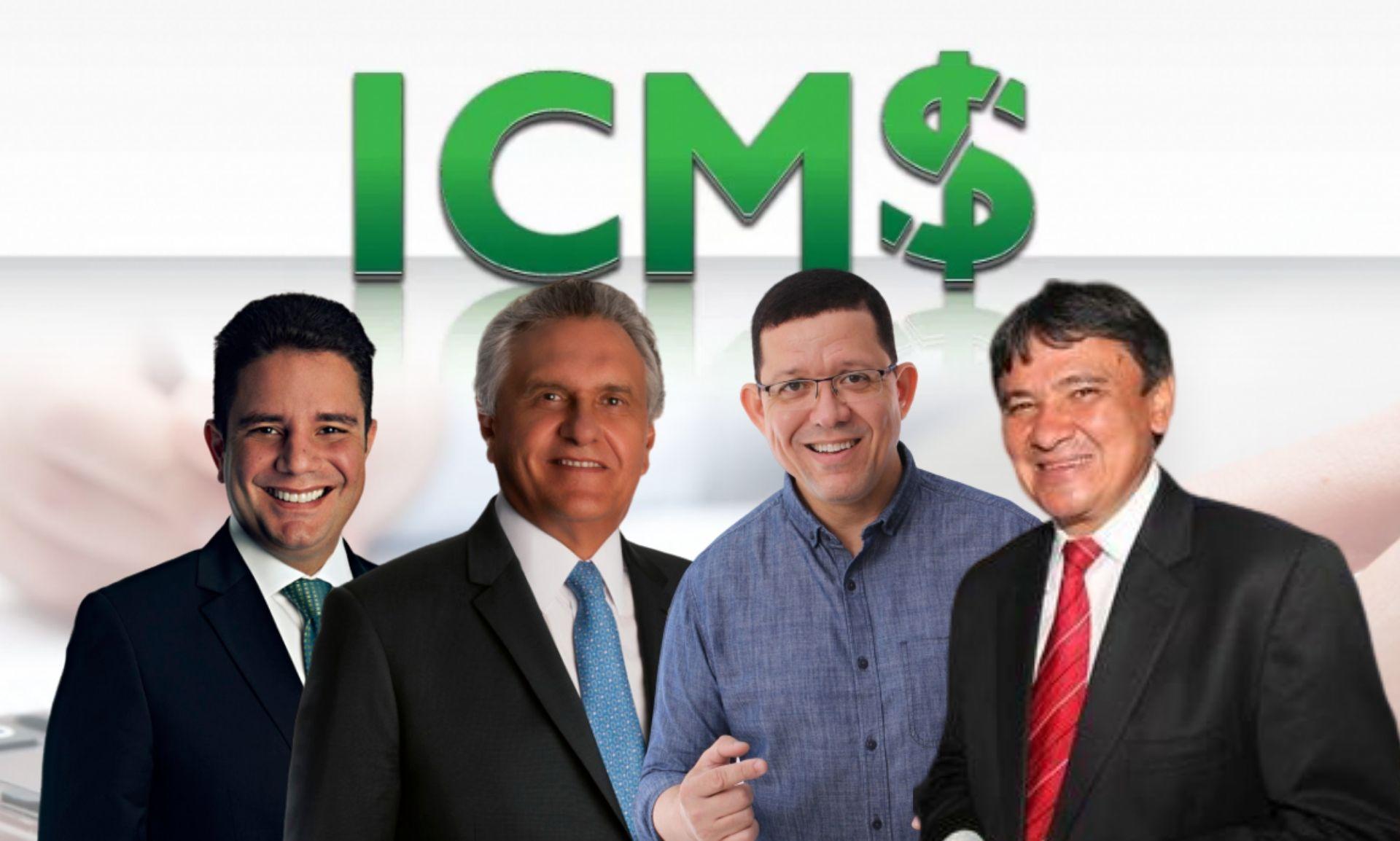 Quatro governadores já aceitaram proposta de Bolsonaro em zerar ICMS