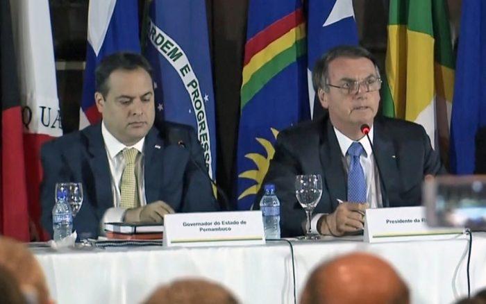 Paulo Câmara ainda não confirmou presença durante visita de Bolsonaro