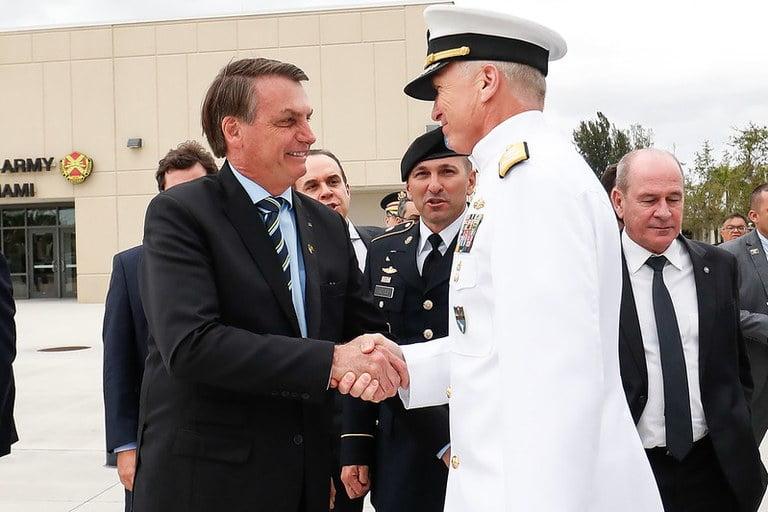Presidente Jair Bolsonaro durante visita ao U.S. Southern Command