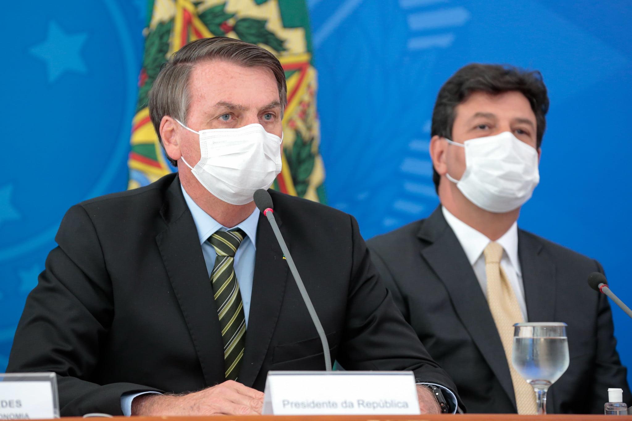 Presidente Jair Bolsonaro e Ministro da Saúde Henrique Mandetta