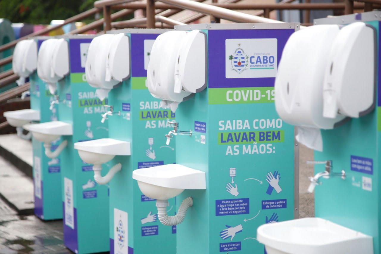 Lavatórios são instalados pela prefeitura do Cabo para evitar propagação do coronavírus