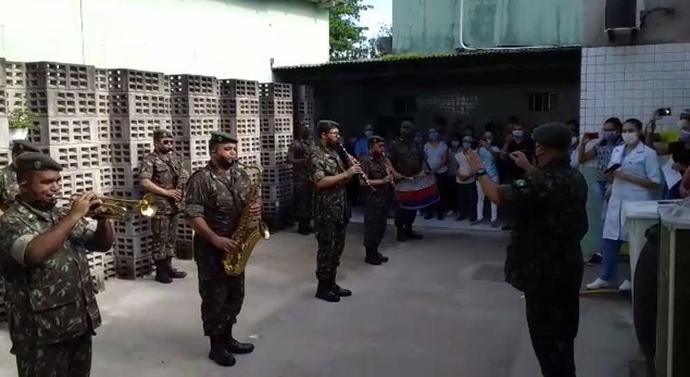 Apresentação do Comando Conjunto Nordeste no Hospital Memorial Jaboatão