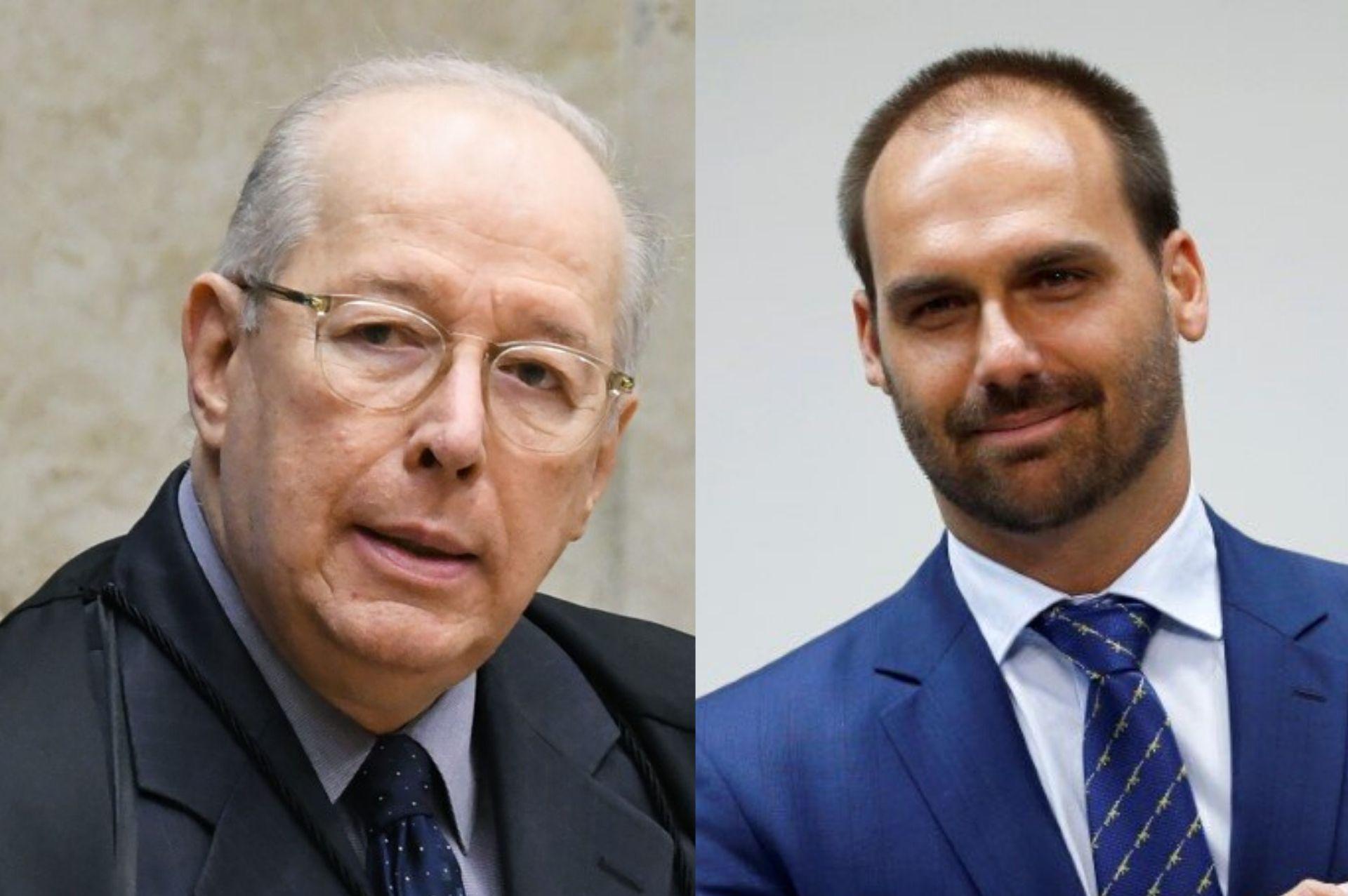 Celso de Mello envia acusação contra Eduardo Bolsonaro por crime contra a segurança nacional