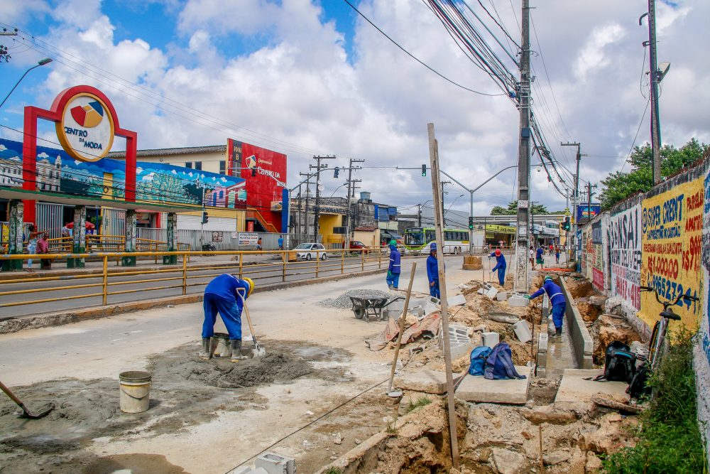 Prefeitura de Olinda intensifica obras e altera tráfego na Avenida Presidente Kennedy