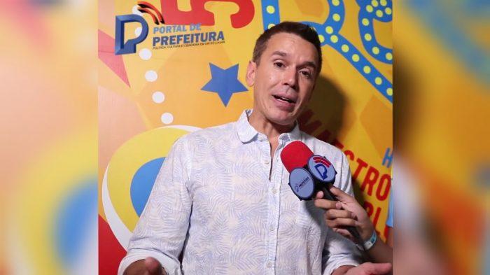 Felipe Carreras em entrevista ao Portal no 56º Baile Municipal do Recife.