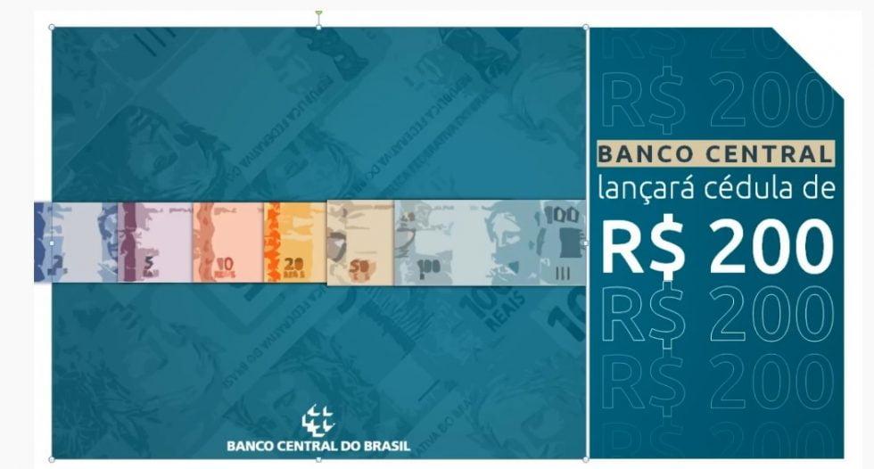 Cédula de R$ 200 entra em circulação nesta quarta-feira