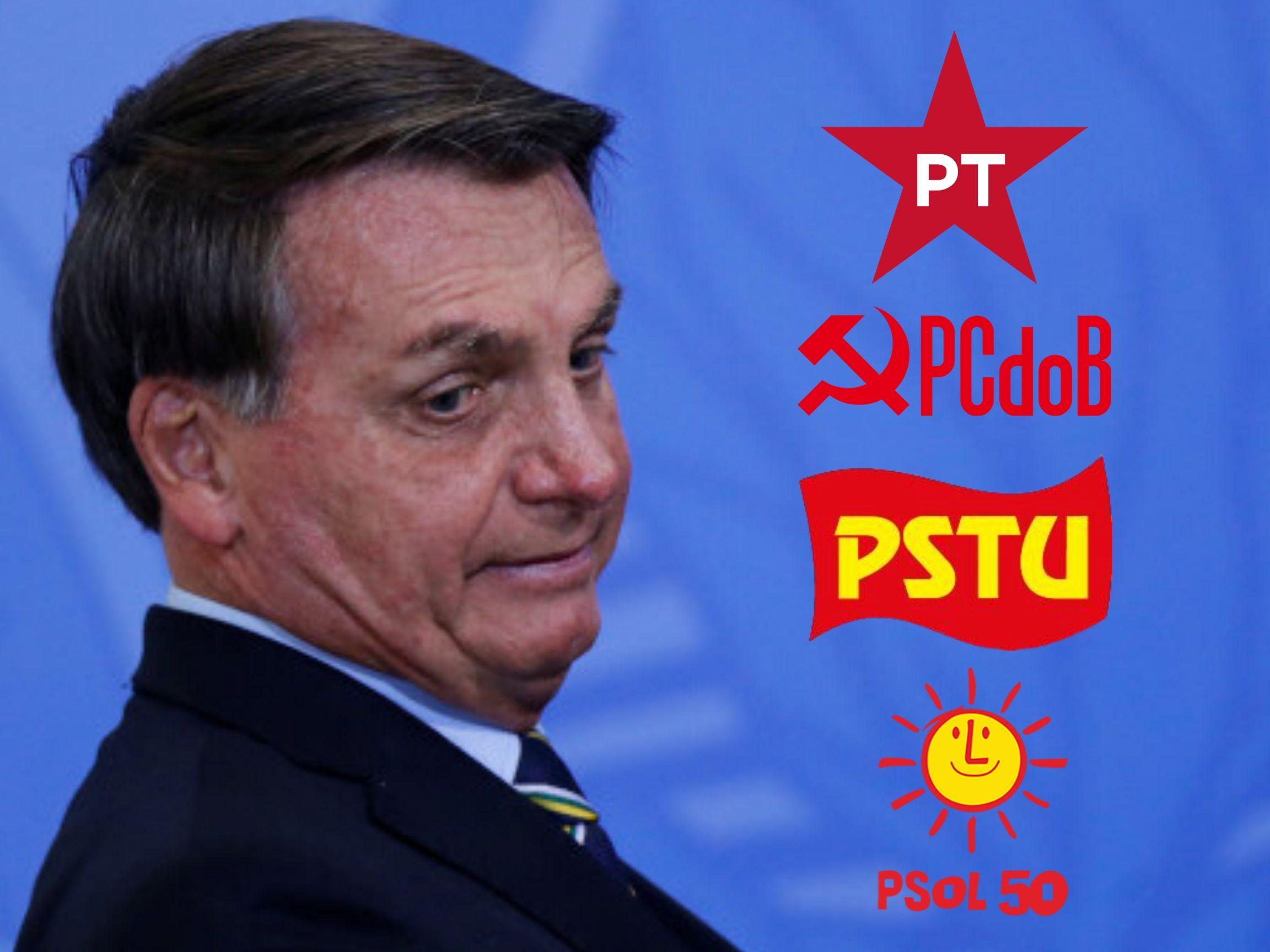 PT, PCdoB, PSOL e PSTU participam de movimento 'Fora Bolsonaro' na próxima sexta-feira