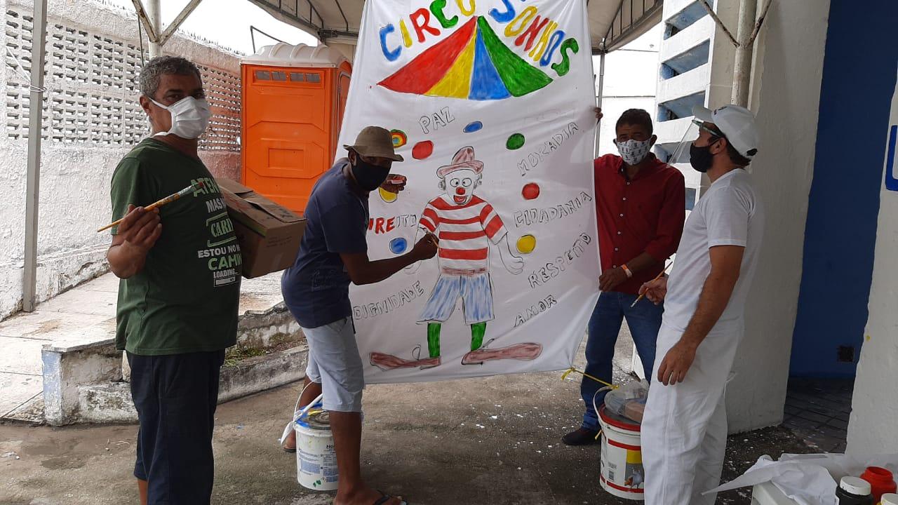 Em Olinda, ações culturais marcam a primeira semana no espaço de acolhimento para pessoas em situação de rua