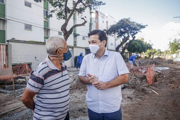 Comunidade do Entra Apulso recebe serviço de saneamento urbanização da Prefeitura do Recife