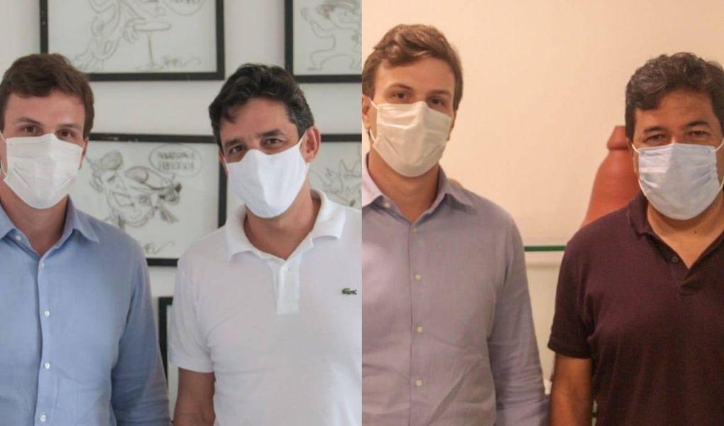 Mendonça e Daniel Coelho reforçam apoio à pré-candidatura de Miguel Coelho, em Petrolina