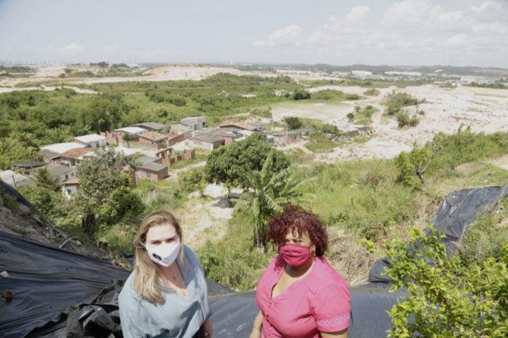 No Ibura, Marília Arraes fala em obras definitivas para eliminar pontos de risco nos morros
