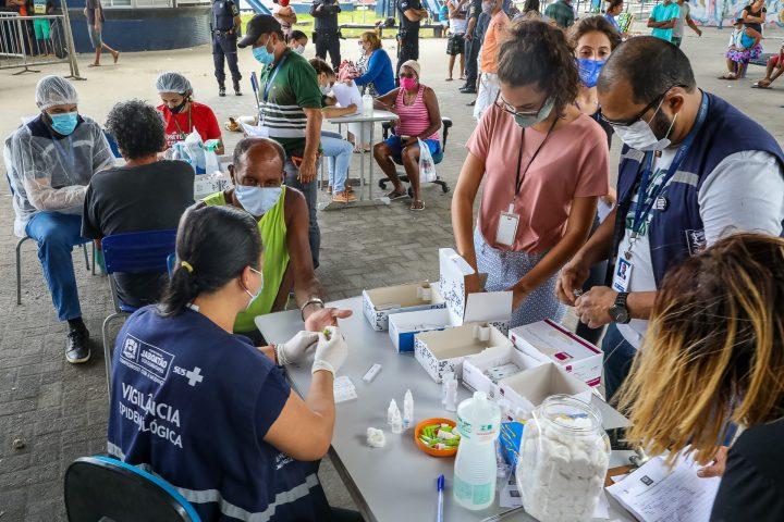 Prefeitura do Jaboatão realiza testes da Covid-19 com população em situação de rua