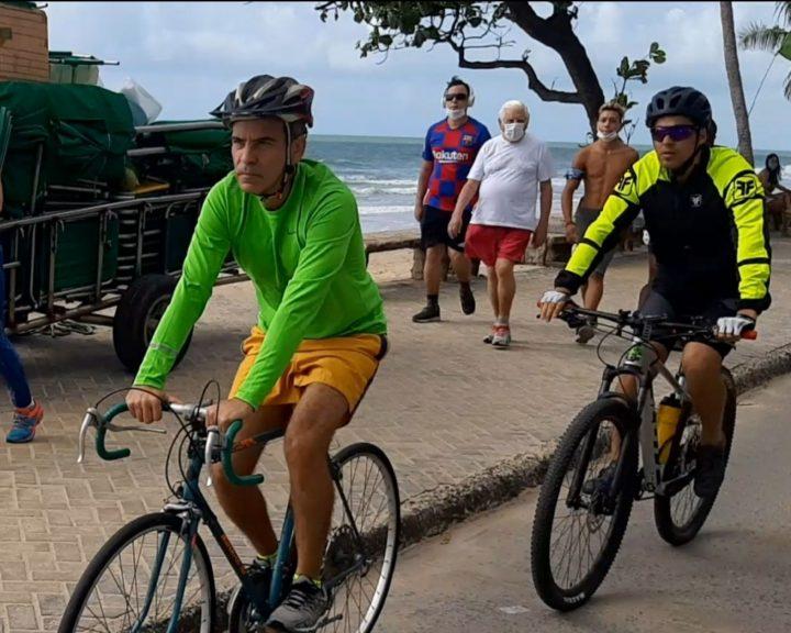 Coronel Feitosa e Fred Ferreira criticam dificuldades que ciclistas encontram no Recife