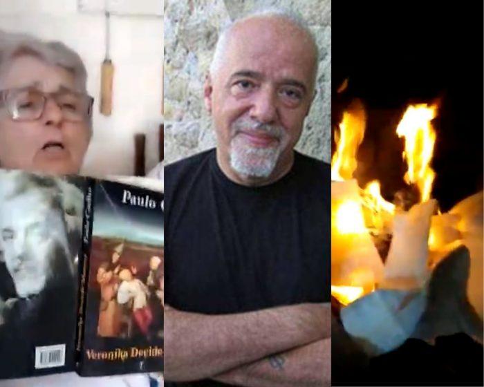 """Casal de idosos queima livro de Paulo Coelho: """"ele fala mal do Brasil"""""""