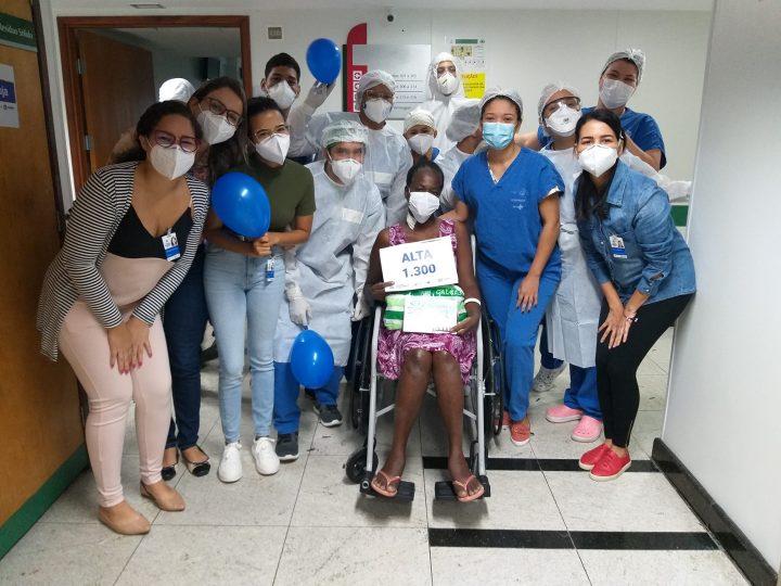 Hospital de Referência à Covid-19 (Antigo Alfa) atinge marca de 1,3 mil curados