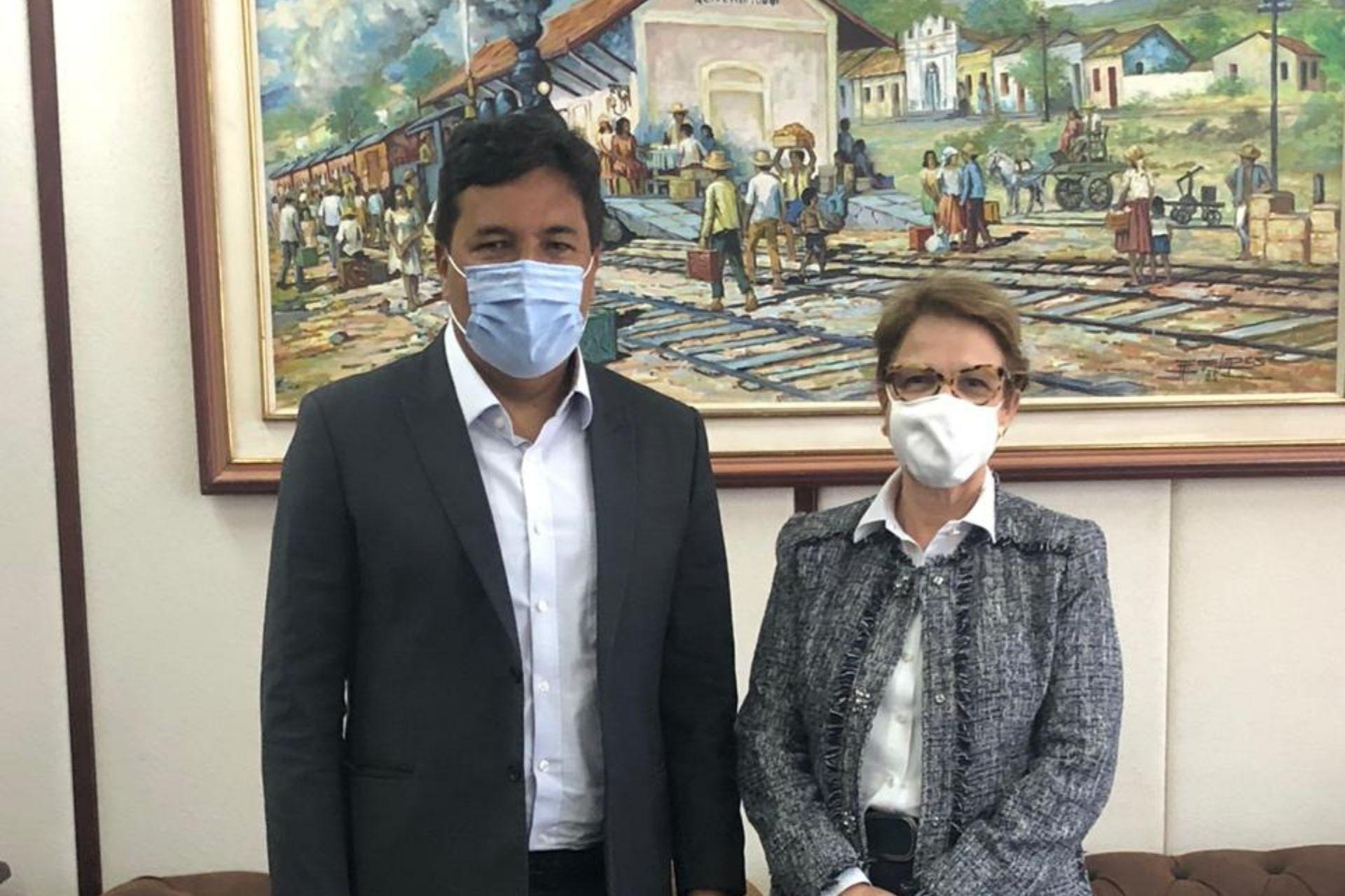 Mendonça discute com a ministra da Agricultura investimentos para Pernambuco