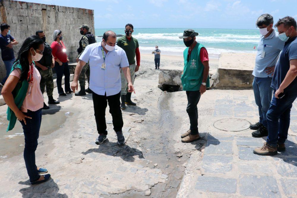 Prefeitura do Cabo cobra da Compesa providencias no vazamento de esgoto em Gaibu