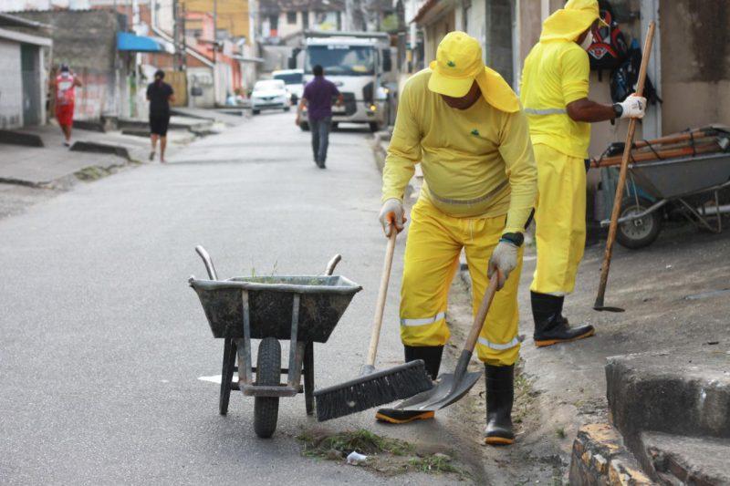 ação de limpeza em Camaragibe