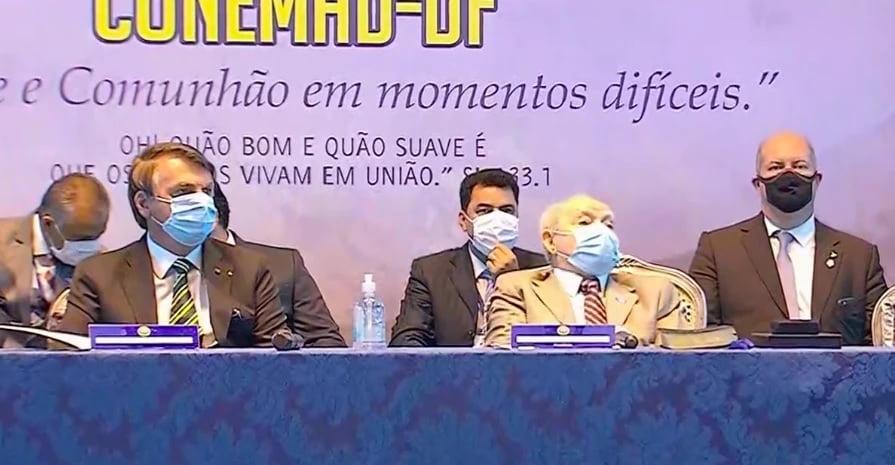 Bolsonaro em evento da Assembleia de Deus