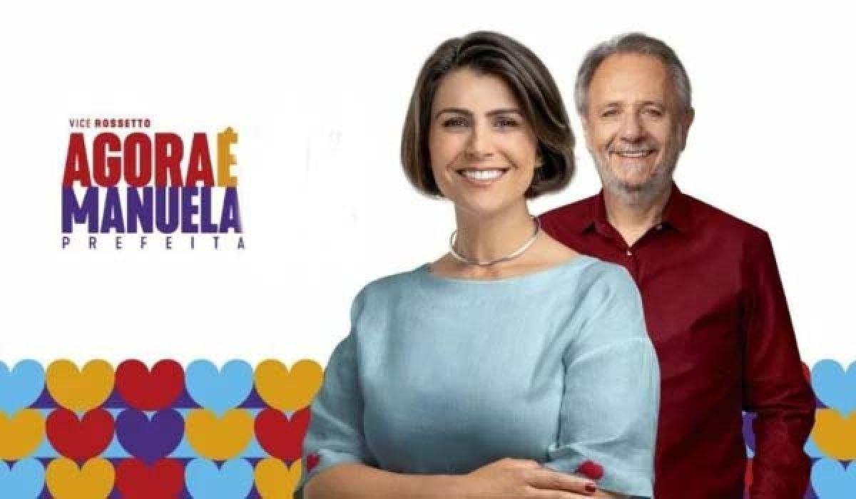 Manuela D'Ávila adota visual conservador em campanha à Prefeitura de Porto Alegre