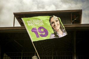 bandeira de campanha da Delegada Patrícia Domingos