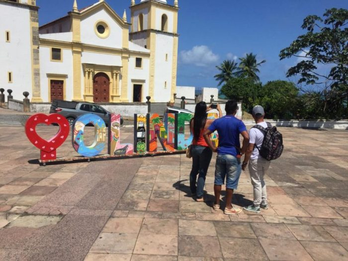 Olinda disponibiliza letreiro turístico para fotos no Alto da Sé