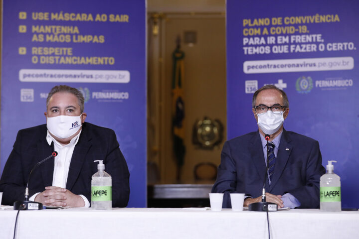 Paulo Câmara e João Campos entregam 10 leitos de UTI no Hospital da Pessoa Idosa