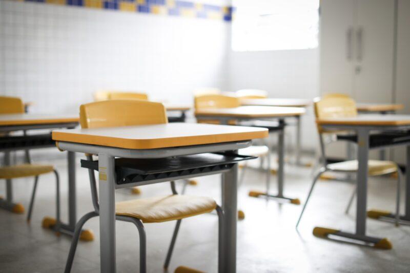 sala de aula de escola vazia no Recife