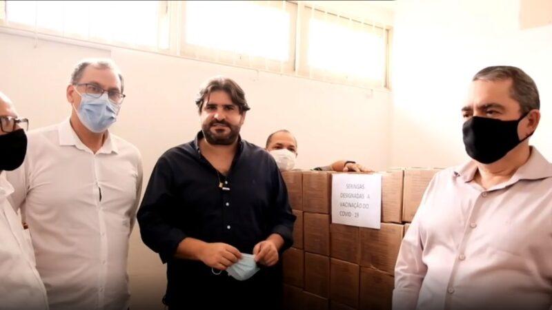 São Lourenço recebe 17 mil seringas para vacinação contra Covid-19