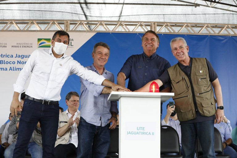 Presidente Jair Bolsonaro inaugura usina termelétrica em Boa Vista (RR)