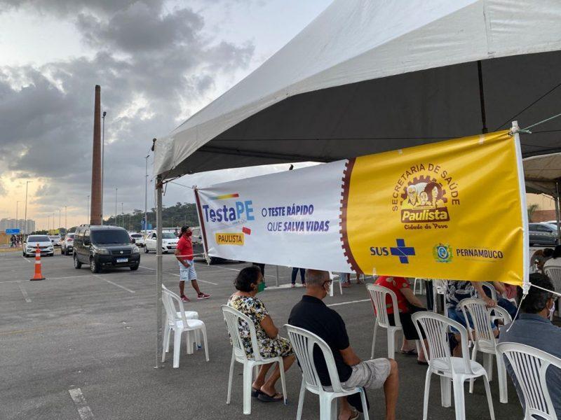 Prefeitura do Paulista realiza ações de testagem gratuita para Covid-19 nesta quarta (22) e quinta (23); confira o cronograma