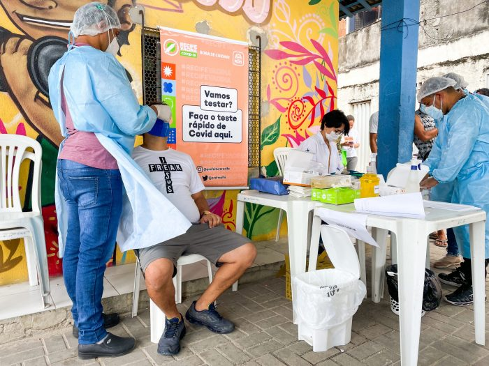 Recife realiza testagem contra a covid-19; confira quais os bairros que serão beneficiados nesta semana