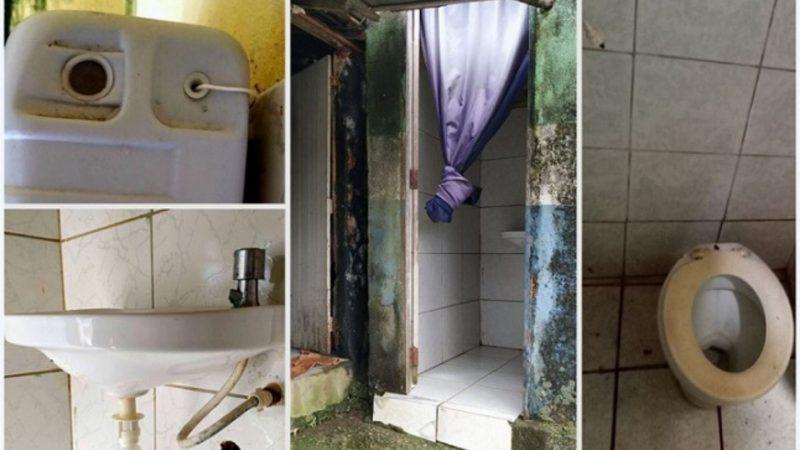 TCE revela precariedade nas escolas municipais de Pernambuco com falta de pias, assentos e descargas dos sanitários; confira análise completa