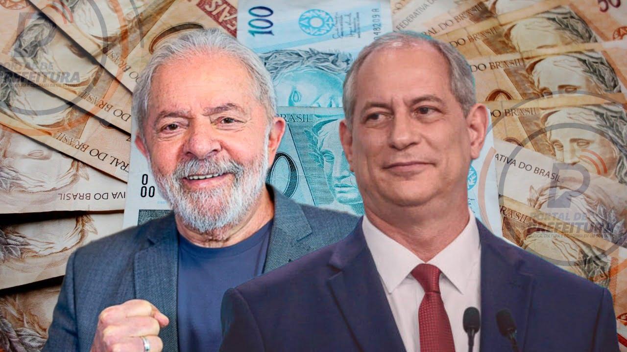 Lula e Ciro Gomes receberam quase R$ 1 milhão de salários de seus partidos desde 2019