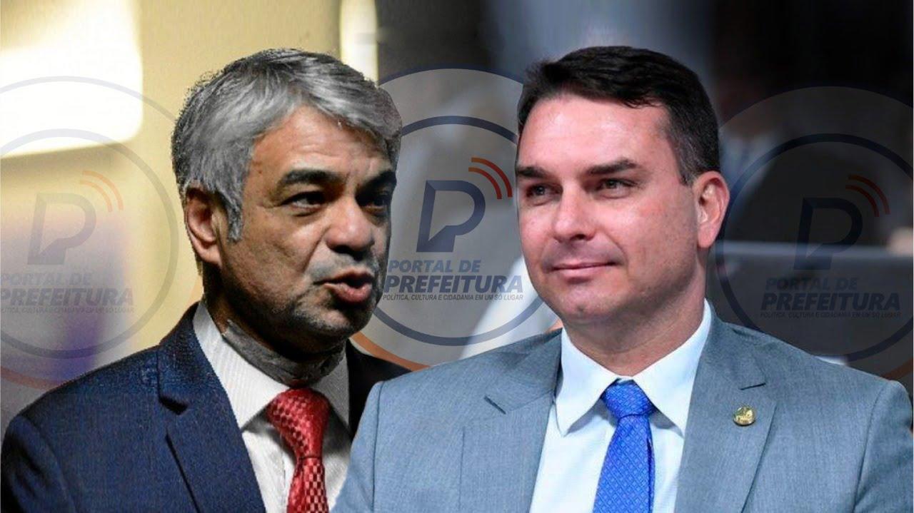 """""""Não pense que porque é filho do presidente você vai mandar aqui não, fique quieto"""", diz Humberto para Flávio Bolsonaro"""