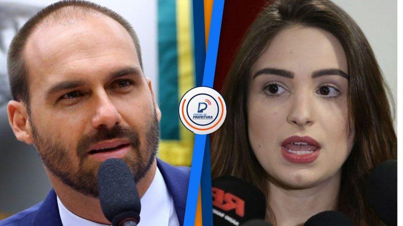 Polícia conclui que Patrícia Lélis mentiu em denúncia contra Eduardo Bolsonaro; a jornalista diz ter sido ameaçada pelo filho do Presidente
