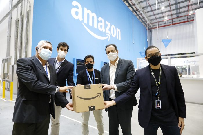 Paulo Câmara visita novo centro de distribuição da Amazon com geração de 860 empregos no Cabo de Santo Agostinho