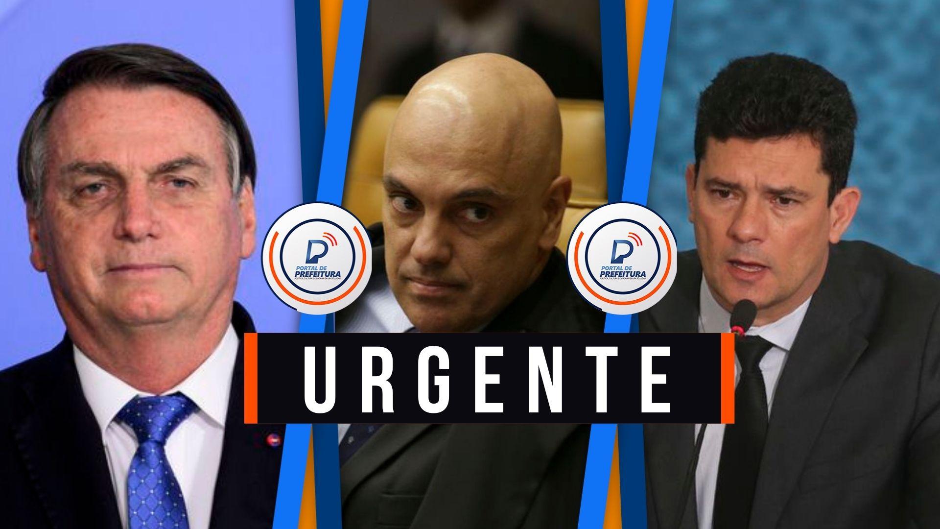 Moraes autoriza PF a colher depoimento presencial de Bolsonaro em até 30 dias sobre denúncia de Moro de interferências política do presidente