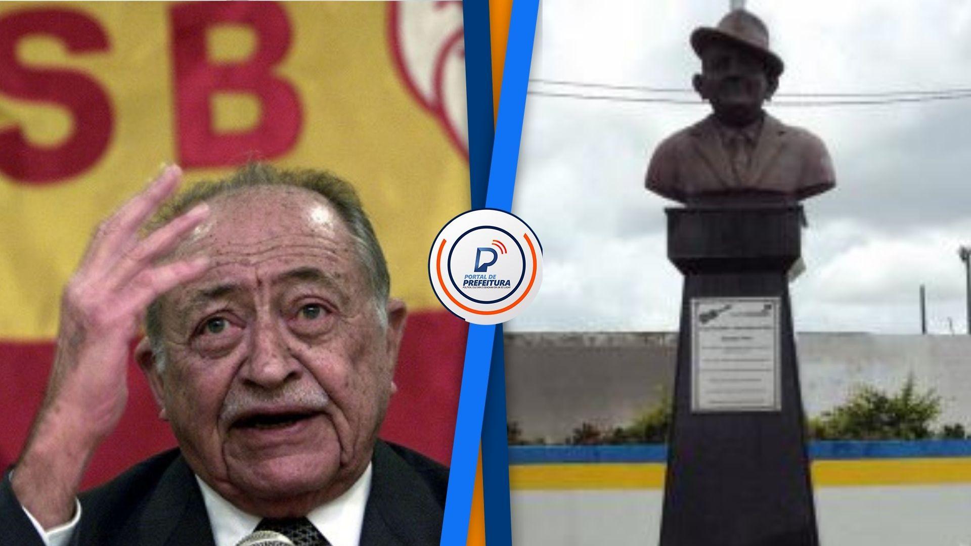 """Deputado afirma que ex-prefeito jogou estátua de Miguel Arraes no lixo; parlamentar pediu """"voto de repúdio"""" na Alepe"""