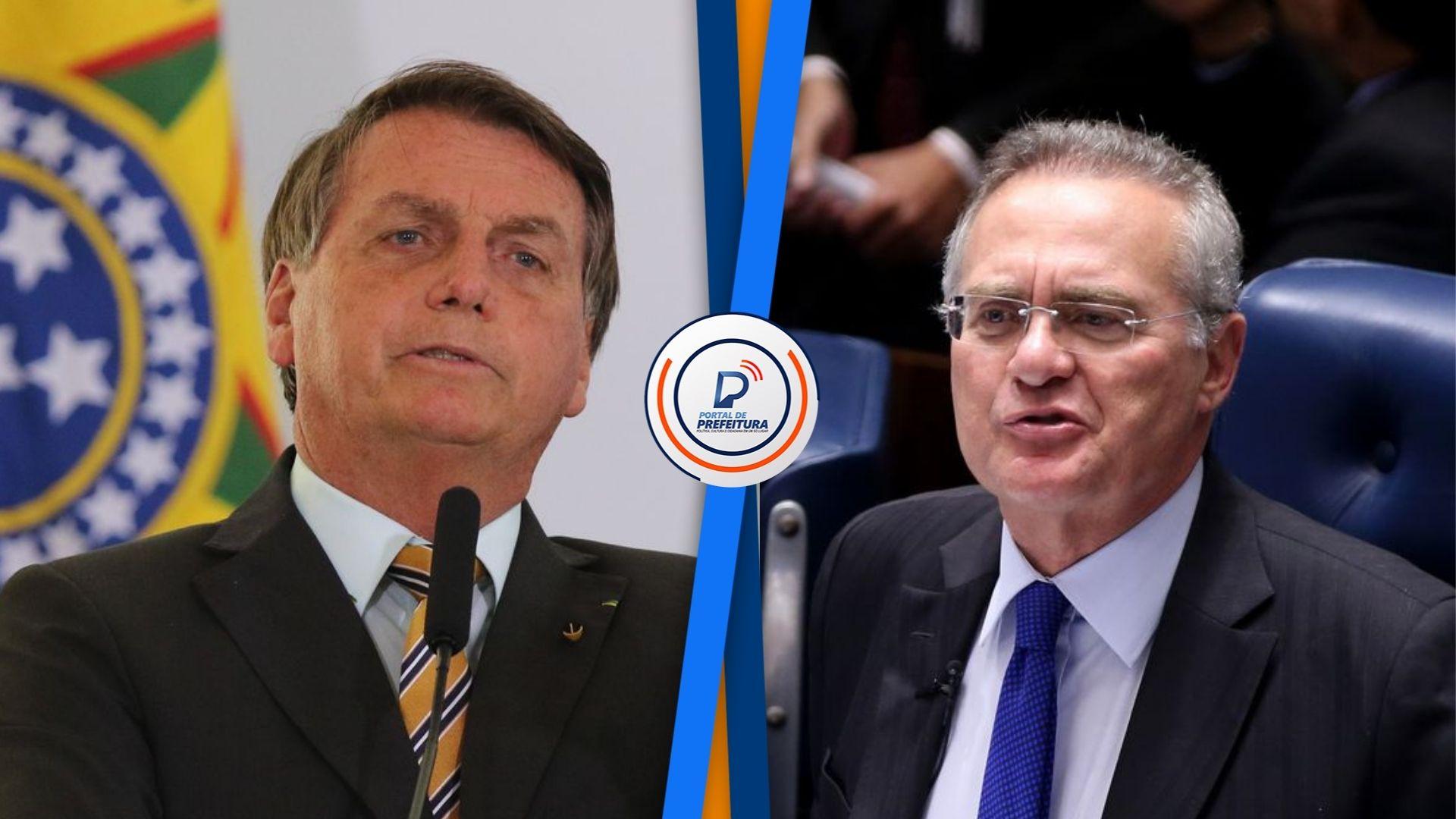 """Bolsonaro sobre Renan Calheiros: """"Um bandido daquele. Bandido é elogio para ele�; presidente criticou relatório final do senador na CPI da Covid"""