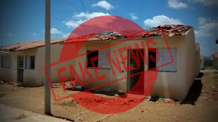 É falsa a informação que MST destruiu casas populares em Santa Cruz do Capibaribe; entenda o caso