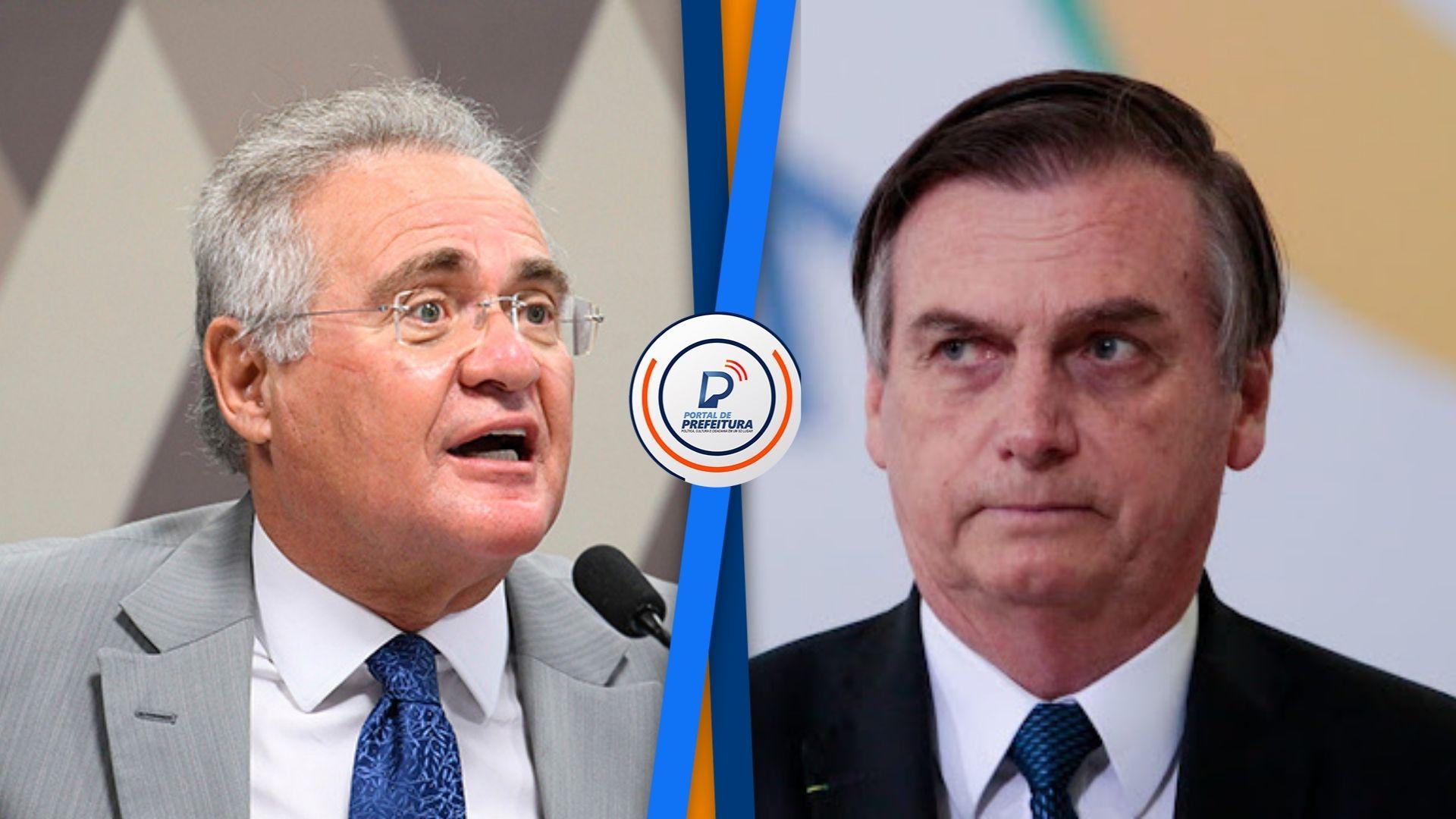 """Renan diz que Bolsonaro estará """"com certeza"""" entre os indiciados do relatório da CPI"""