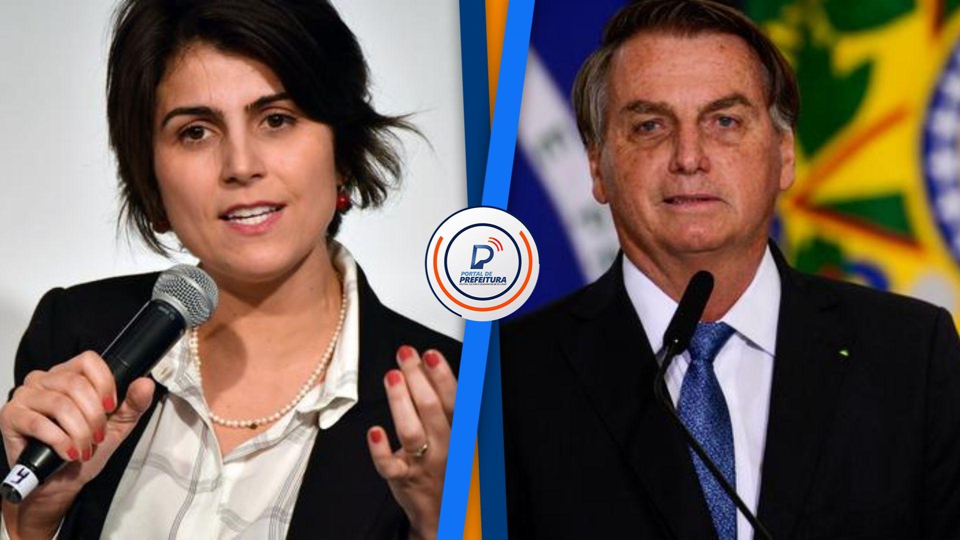 """Manuela d'�vila critica Bolsonaro após presidente associar vacinação com a Aids: """"deve ser responsabilizado pelas fakes que dispara"""""""